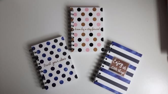 Poundland A6 Notebooks