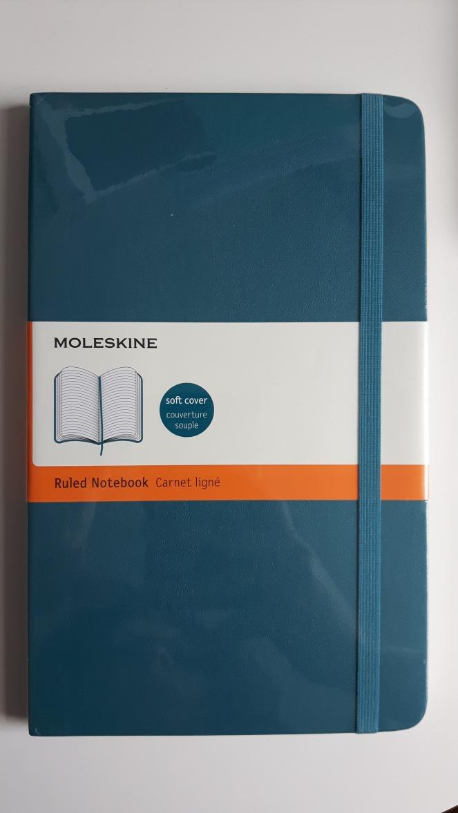 amaMoleskine Soft Large Underwater Blue Ruled Notebook